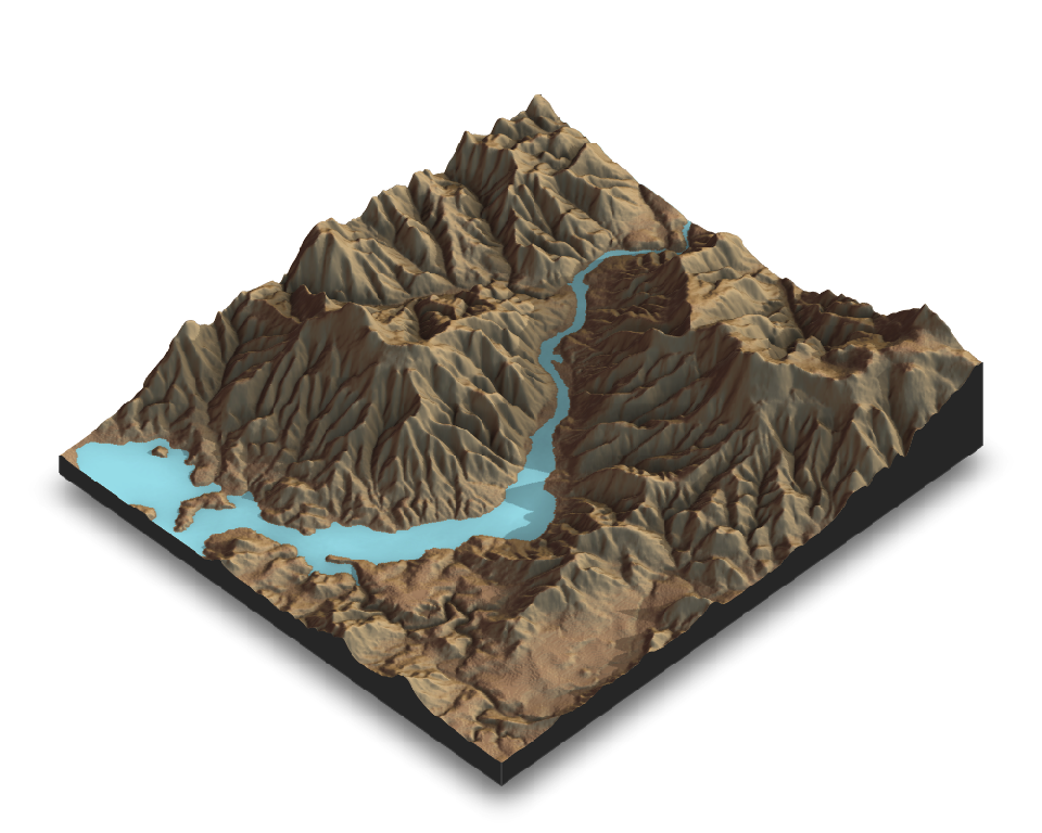 Create and Visualize Hillshaded Maps from Elevation Matrices • rayshader